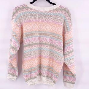 Vintage fairy kei pastel 80s sweater size medium